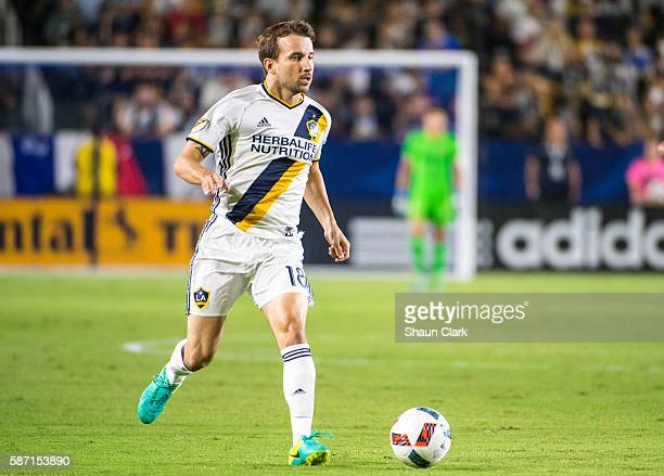Mike Magee of Los Angeles Galaxy during Los Angeles Galaxy's MLS match against the New York Red Bulls at the StubHub Center on August 7 2016 in...