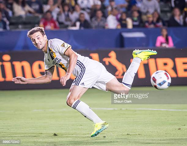 Mike Magee of Los Angeles Galaxy during Los Angeles Galaxy's MLS match against Columbus Crew at the StubHub Center on September 3 2016 in Carson...