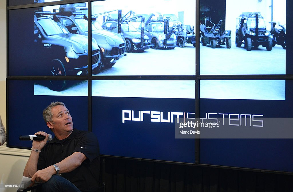 Mike Majeski of 'Pursuit Systems' attends the Acura Master Class 'Cue Car Chase' on January 18, 2013 in Park City, Utah.