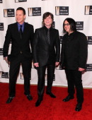 Mike Malinin Johnny Rzeznik and Robby Takac of the band Goo Goo Dolls attend The Creative Coalition's 2013 Inaugural Ball on January 21 2013 in...