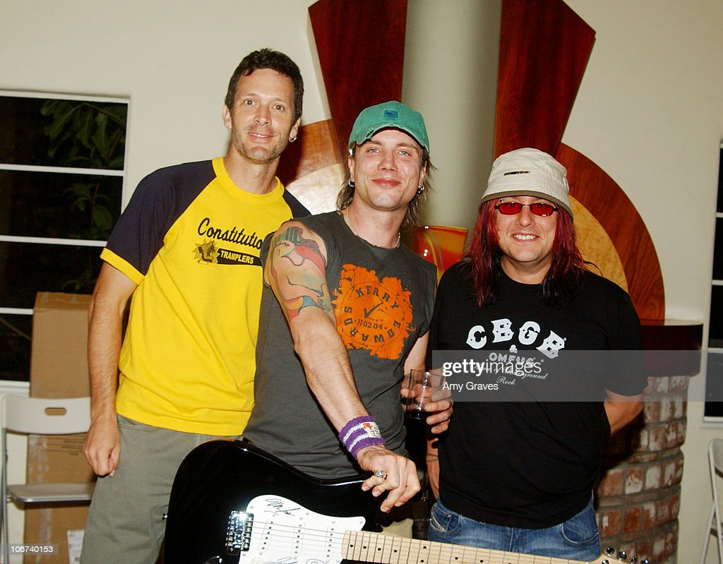 Mike Malinin Johnny Rzeznik and Robby Takac of the Goo Goo Dolls