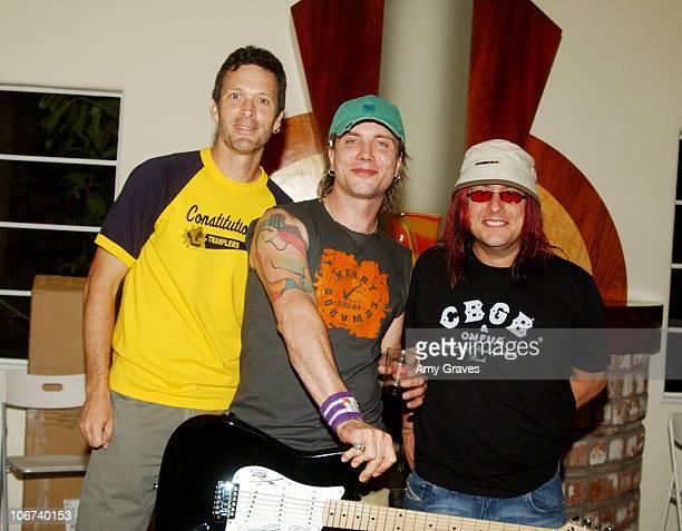 Mike Malinin Johnny Rzeznik and Robby Takac of the Goo Goo Dolls