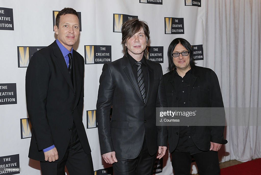 Mike Malinin, Johnny Rzeznik, and Robby Takac of the Goo Goo Dolls attend The Creative Coalition's 2013 Inaugural Ball at the Harman Center for the Arts on January 21, 2013 in Washington, United States.