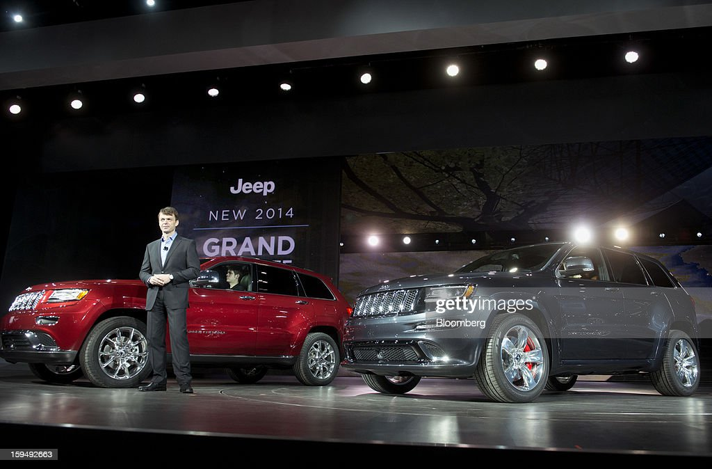 Mike Manley, president of Chrysler Group LLC's Jeep brand and head of international operations for Chrysler Group, speaks during the 2013 North American International Auto Show (NAIAS) in Detroit, Michigan, U.S., on Monday, Jan. 14, 2013. The Detroit auto show runs through Jan. 27 and will display over 500 vehicles, representing the most innovative designs in the world. Photographer: Daniel Acker/Bloomberg via Getty Images