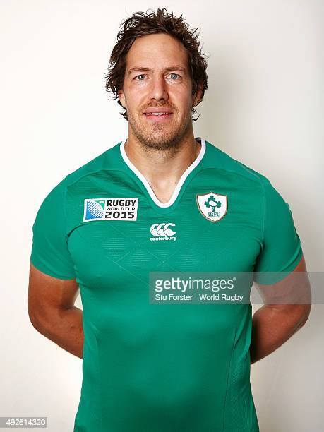 Mike McCarthy of Ireland poses for a portrait during the Ireland Rugby World Cup 2015 squad photo call on October 14 2015 in Cardiff Wales