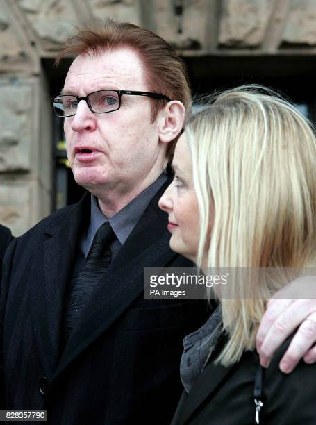 Mike McCartney brother of former Beatle Paul leaves Chester Crown Court with wife Rowena Friday February 24 after his trial for allegedly groping a...