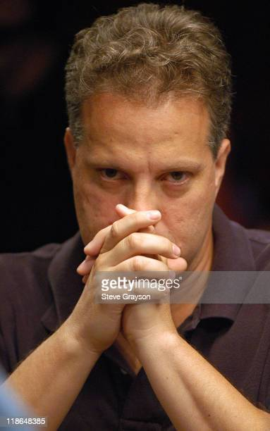 Mike McClain in action during final round of the 2004 World Series of Poker at Binion's Horseshoe Club and Casino in Las Vegas Nevada May 28 2004