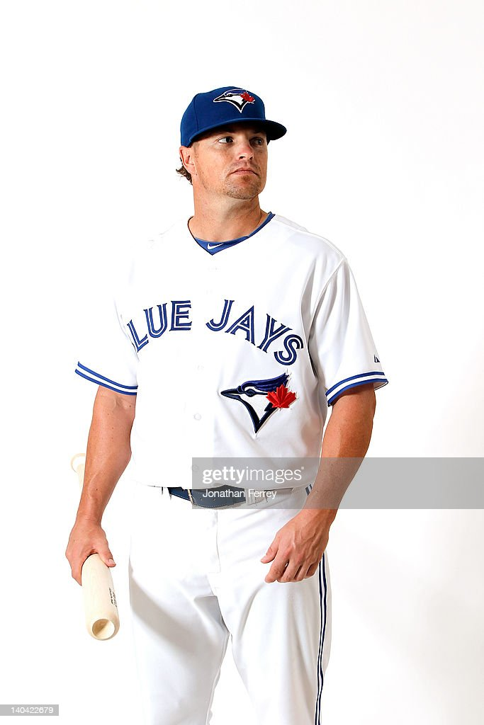 Mike McCoy #18 of the Toronto Blue Jays poses for a portrait at Dunedin Stadium on March 2, 2012 in Dunedin, Florida.