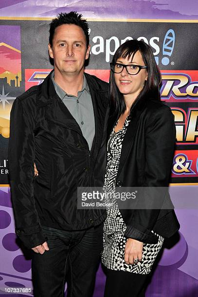 Mike McCready and Ashley O'Connor arrive at the Team Challenge Pasta Dinner at the Mandalay Bay Resort Casino on December 4 2010 in Las Vegas Nevada