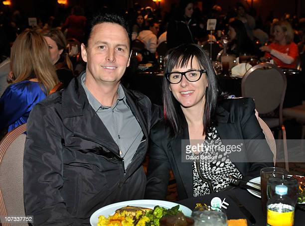 Mike McCready and Ashley O'Connor attend the Team Challenge Pasta Dinner at the Mandalay Bay Resort Casino on December 4 2010 in Las Vegas Nevada