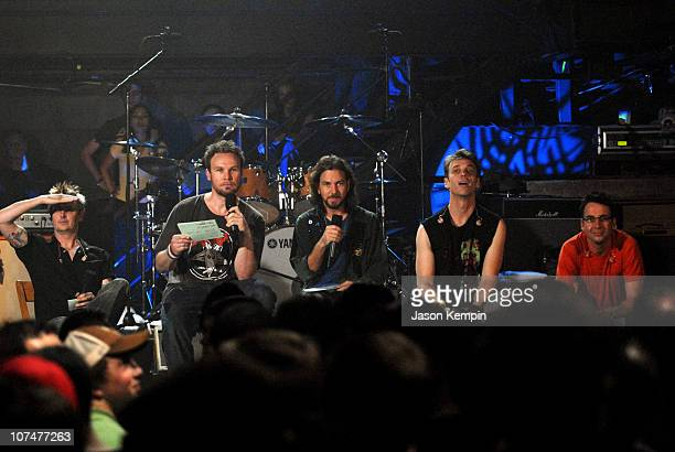 Mike McCready Jeff Ament Eddie Vedder Matt Cameron and Stone Gossard of Pearl Jam
