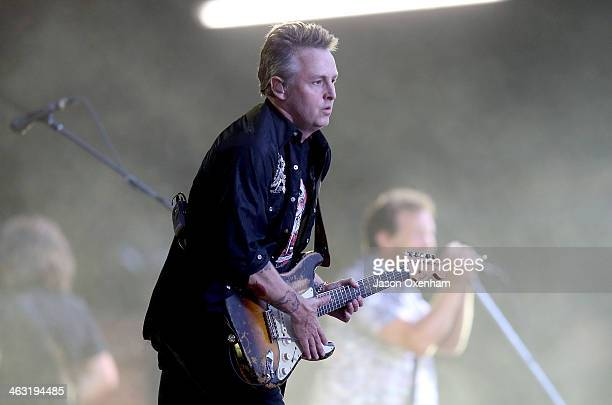 Mike McCready of Pearl Jam performs live for fans during the 2014 Big Day Out Festival at Western Springs on January 17 2014 in Auckland New Zealand
