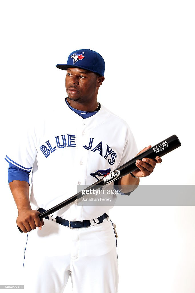 Mike McDade #60 of the Toronto Blue Jays poses for a portrait at Dunedin Stadium on March 2, 2012 in Dunedin, Florida.
