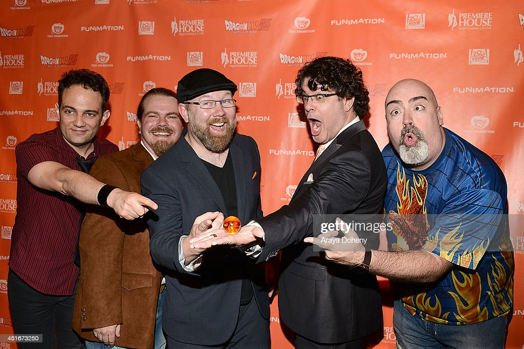 Mike McFarland, Justin Cook, Christopher Sabat, Sean Schemmel and Kyle Hebert attend the 'Dragon Ball
