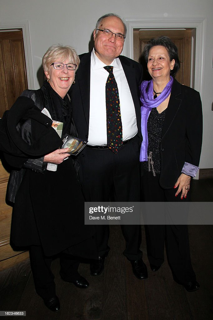Mike McShane and guests attend 'The Tailor-Made Man' press night after party at the Haymarket Hotel on January 21, 2013 in London, England.