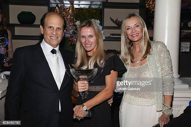 Mike Milken Mary Bernstein and Bonnie Pfeifer Evans attend The Prostate Cancer Research Foundation Benefit Dinner on December 7 2016 in New York City