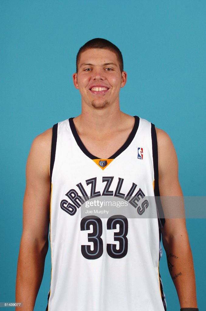 Mike Miller #33 of the Memphis Grizzlies poses for a portrait during NBA Media Day on October 4, 2004 in Memphis, Tennessee.