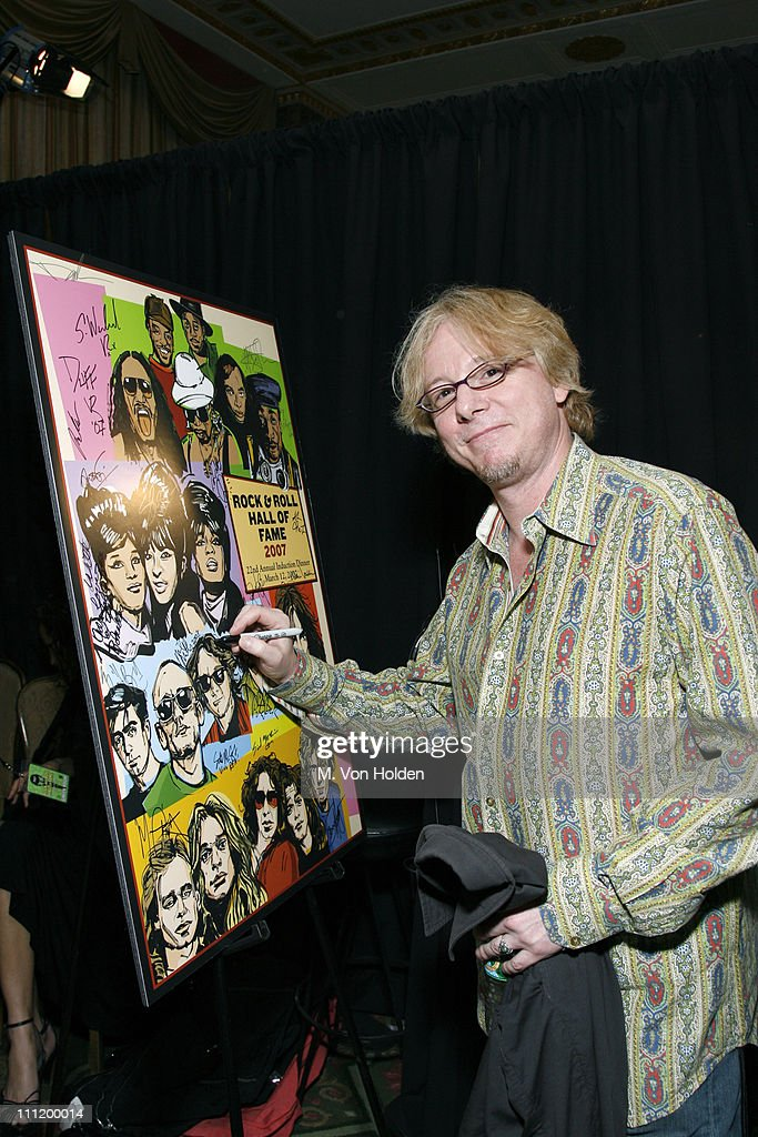 Mike Mills of R.E.M. during 22nd Annual Rock and Roll Hall of Fame Induction Ceremony - On 3 Productions Gift Suite at Waldorf-Astoria in New York City, New York, United States.