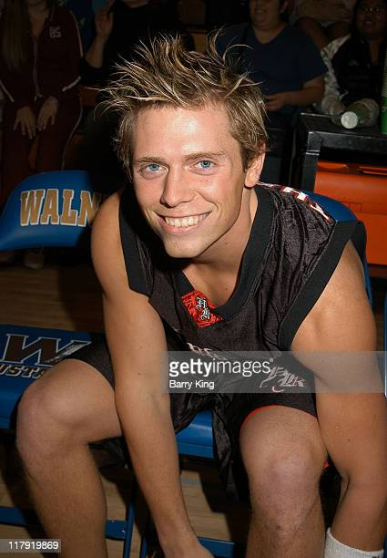 Mike Mizanin during Hollywood Knights Charity Basketball Game at Walnut High School in Walnut California United States