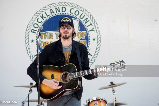 Mike Montail of The Hollis Brown Band at the RocklandBergen Music Festival at German Masonic Park on June 24 2017 in Tappan New York