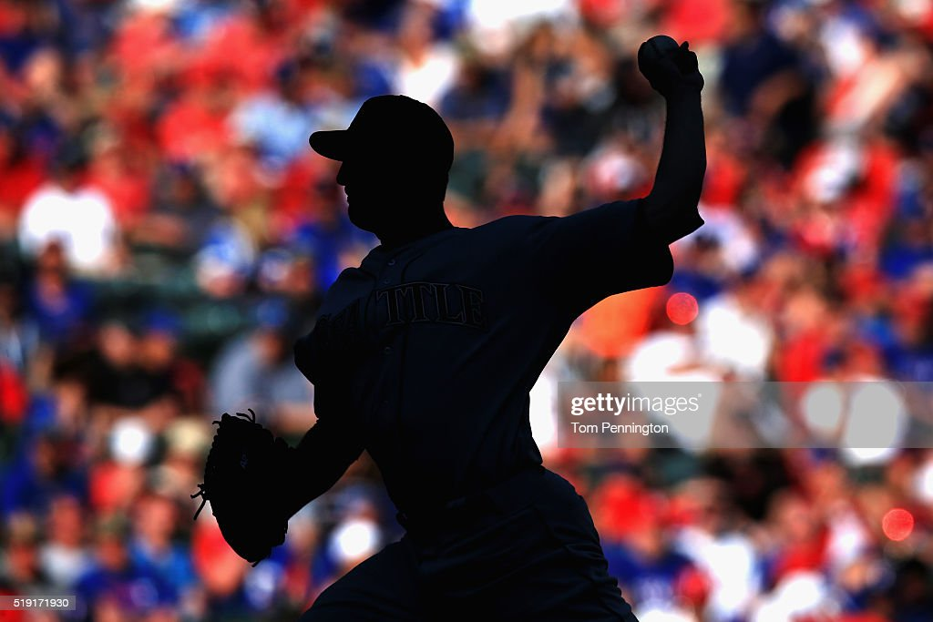 Mike Montgomery #37 of the Seattle Mariners pitches against the Texas Rangers in the bottom of the eighth inning on Opening Day at Globe Life Park in Arlington on April 4, 2016 in Arlington, Texas.