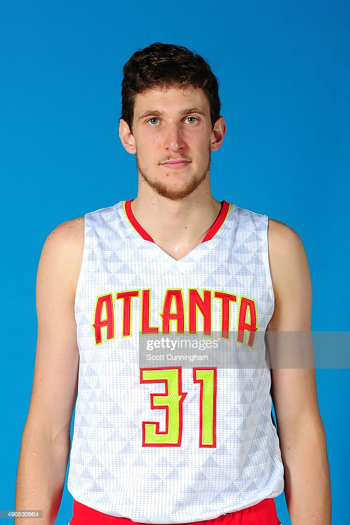 <a gi-track='captionPersonalityLinkClicked' href=/galleries/search?phrase=Mike+Muscala&family=editorial&specificpeople=7563430 ng-click='$event.stopPropagation()'>Mike Muscala</a> #31 of the Atlanta Hawks poses for a photo during media day on September 28, 2015 at Philips Arena in Atlanta, Georgia.