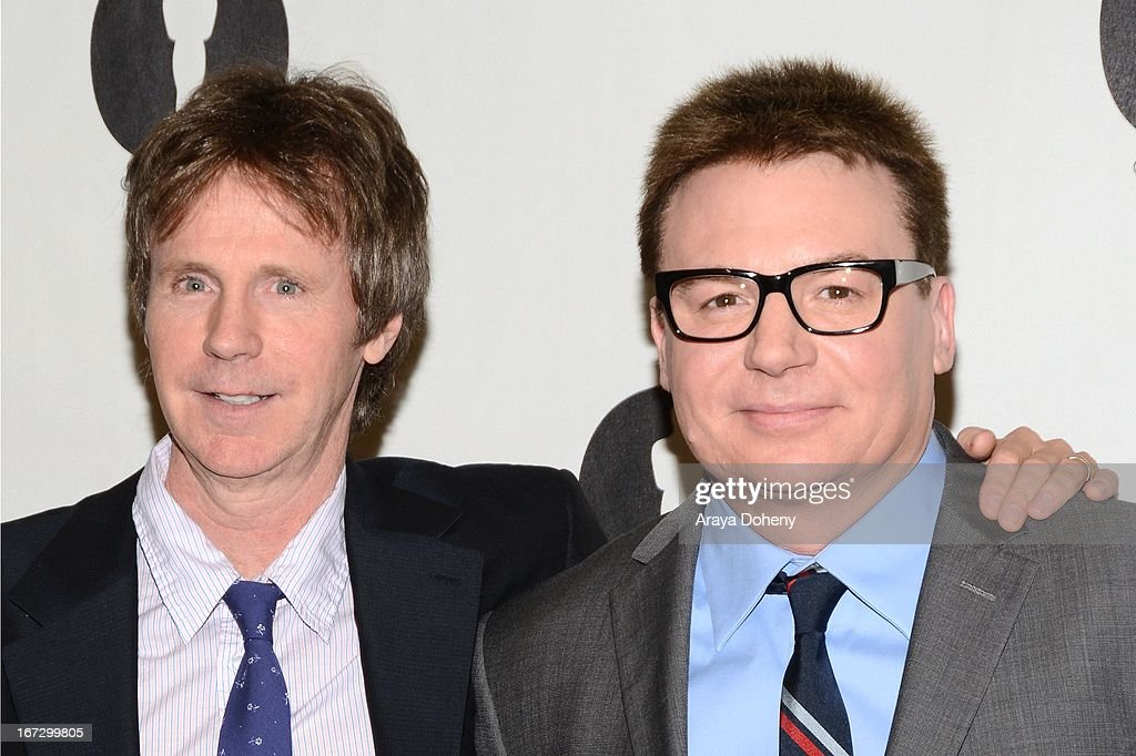 Mike Myers and <a gi-track='captionPersonalityLinkClicked' href=/galleries/search?phrase=Dana+Carvey&family=editorial&specificpeople=220372 ng-click='$event.stopPropagation()'>Dana Carvey</a> attend the Academy of Motion Picture Arts and Sciences hosts a 'Wayne's World' reunion at AMPAS Samuel Goldwyn Theater on April 23, 2013 in Beverly Hills, California.