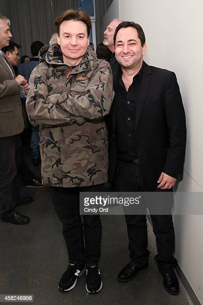 Mike Myers and Scott Feinberg attend the 17th Annual Savannah Film Festival on November 1 2014 in Savannah Georgia