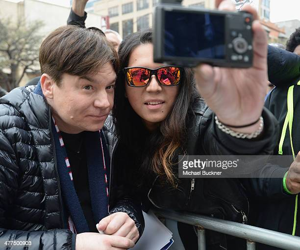 Mike Myers arrives to the premiere of 'Supermensch' during the 2014 SXSW Music Film Interactive Festival at the Paramount Theatre on March 9 2014 in...