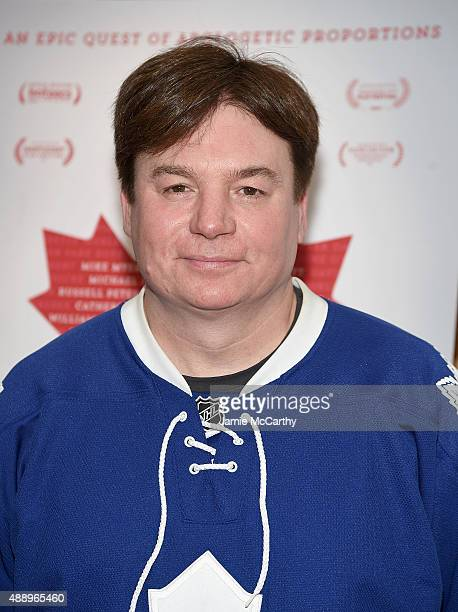 Mike Myers attends the 'Being Canadian' New York Premiere at Crosby Street Hotel on September 18 2015 in New York City