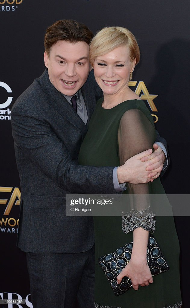 Mike Myers, Kelly Tisdale attends the 18th Annual Hollywood Film Awards at The Palladium on November 14, 2014 in Hollywood, California.