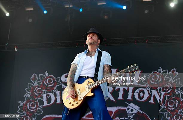 Mike Ness of Social Distortion performs on stage during the third and final day of Rock Im Park Festival at Zeppelinfeld on June 5 2011 in Nuremberg...