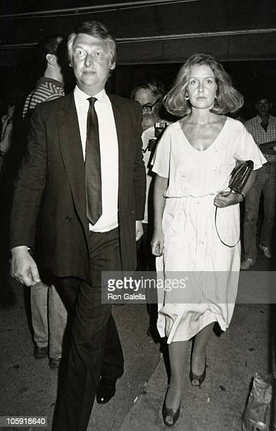 Mike Nichols and Annabelle Nichols during Paul Simon and Carrie Fisher Wedding August 16 1983 at Paul Simon's Central Park West Apartment in New York...