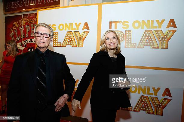 Mike Nichols and journalist Diane Sawyer attend 'It's Only A Play' Broadway opening night at Gerald Schoenfeld Theatre on October 9 2014 in New York...