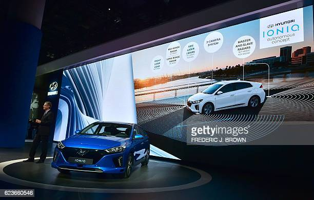 Hyundai ioniq stock photos and pictures getty images Hyundai motors america