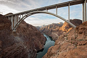 Mike O'Callaghan–Pat Tillman Memorial Bridge constructed as a bypass for the Hoover Dam.