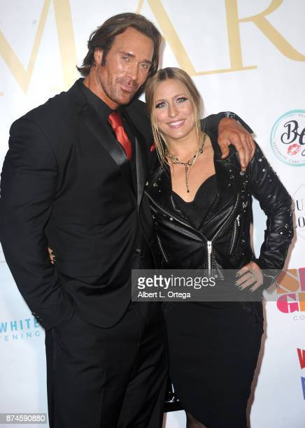 Mike O'Hearn and Angie attend Amare Magazine Presents A Black Tie Event featuring cover model Mike O'Hearn held at Hangar 21 on November 14 2017 in...