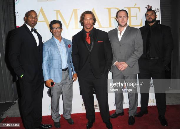 Mike O'Hearn Lance Keys and guests attend Amare Magazine Presents A Black Tie Event featuring cover model Mike O'Hearn held at Hangar 21 on November...