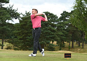 Mike Ovett of Hassocks Golf Club tees off from the 2nd hole during the The Lombard Trophy South Qualifier at Walton Heath Golf Club on July 8 2015 in...