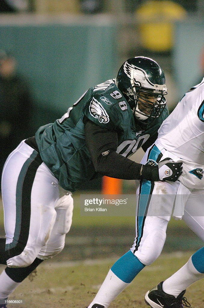 Mike Patterson of the Philadelphia Eagles during a game between the Carolina Panthers and Philadelphia Eagles at Lincoln Financial Field in...