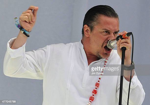 Mike Patton of Faith No More performs live on stage during Day 2 of the Download Festival at Donington Park on June 13 2015 in Castle Donington...