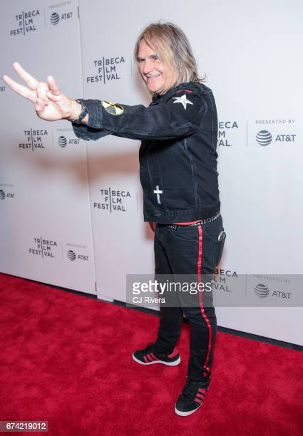 Mike Peters attends the premiere of 'Dare to be Different' during the 2017 Tribeca Film Festival at Spring Studios on April 27 2017 in New York City