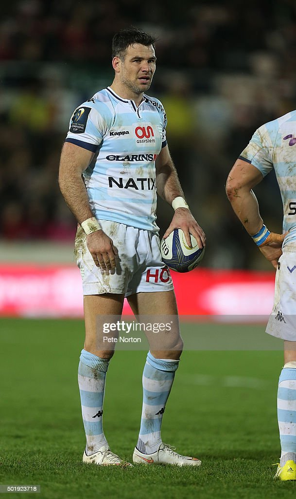 Mike Phillips of Racing 92 in action during the European Rugby Champions Cup match between Northampton Saints and Racing 92 at Franklin's Gardens on December 18, 2015 in Northampton, England.