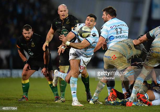 Mike Phillips of Racing Metro 92 during the European Rugby Champions Cup match between Northampton Saints and Racing Metro 92 at Franklin's Gardens...