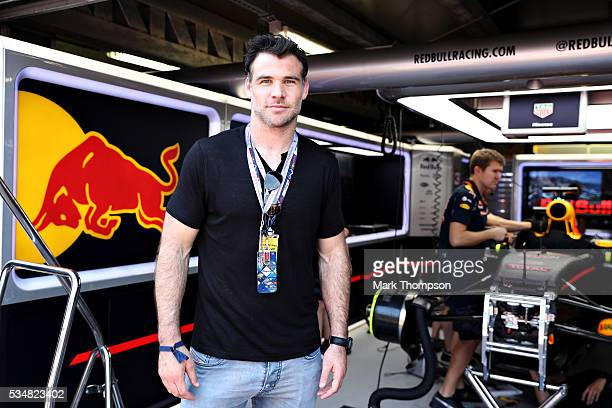 Mike Phillips rugby player outside the Red Bull Racing garage ahead of qualifying for the Monaco Formula One Grand Prix at Circuit de Monaco on May...