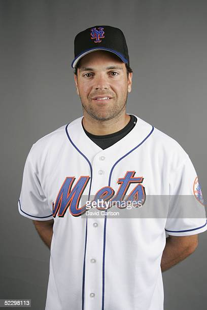 Mike Piazza of the New York Mets poses for a portrait during photo day at Mets Stadium on February 27 2005 in Viera Florida