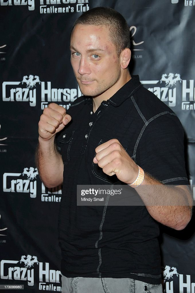 Mike Pierce arrives at the Crazy Horse III Gentleman's Club on July 6, 2013 in Las Vegas, Nevada.