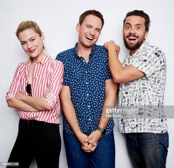 Mike Piscitelli Rachel Taylor and Patrick J Adams pose for a portrait at the Tribeca TV festival at Cinepolis Chelsea on September 23 2017