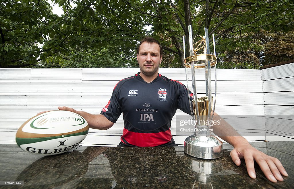 Mike Powell of Moseley RFC during the 2013/14 Greene King IPA Championship Launch at St Margarets Pub on September 03, 2013 in London, England.