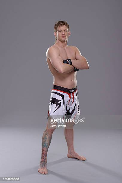 Mike Pyle poses for a portrait during a UFC photo session on February 19 2014 in Las Vegas Nevada